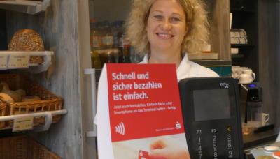 Kartenzahlung beim Bäcker in Schönwalde